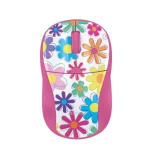 Primo-Wireless-Mouse-pink-flowers
